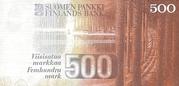 500 Markkaa – revers