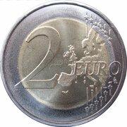 2 euros (1er type, 2e carte, type hybride) – revers