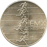 10 markkaa (Championnat d'Europe d'athlétisme) – revers