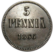 5 penniä - Alexandre II – revers