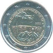 2 Euro (100th Anniversary of Autonomy of Åland Islands) – avers