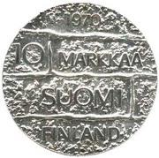 10 markkaa (Président Paasikivi) – revers