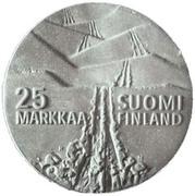 25 markkaa (Championnat du monde des sports d'hiver à Lahti) – revers