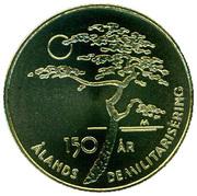 5 euros Démilitarisation des îles Åland – revers