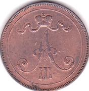10 pennia - Alexandre III – avers