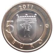 5 euros Laponie – revers
