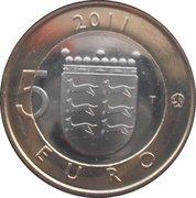 5 euros Ostrobotnie – revers