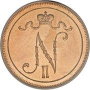 10 penniä - Nicholas II – avers