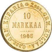 10 markkaa – revers