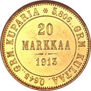 20 markkaa - Alexandre II – revers