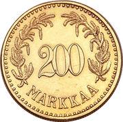 200 markkaa – revers