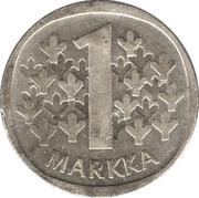 1 markka (argent) – revers