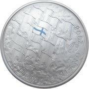 10 euros Le drapeau finlandais – avers