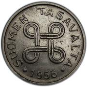 1 markka (fer plaqué nickel) -  avers