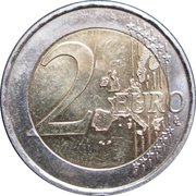 2 euros Anniversaire de l'ONU – revers