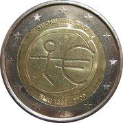 2 euros Union économique et monétaire -  avers