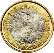 5 euros Flore – revers