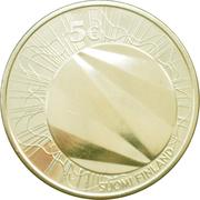 5 euros Helsinki capitale mondiale du design – avers