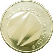 5 euros Helsinki capitale mondiale du design – revers