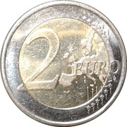 2 euros (2e type, 2e carte) – revers