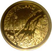 100 euros Premier euro finlandais en or – avers