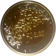 50 euros Présidence finlandaise de l'union européenne – revers