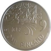 10 euros Juhani Aho (argent 925‰) – avers