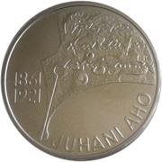 10 euros Juhani Aho (argent 925‰) – revers