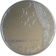 10 euros Fredrik Pacius – avers
