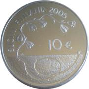 10 euros 60 années de paix – avers