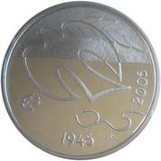 10 euros 60 années de paix – revers