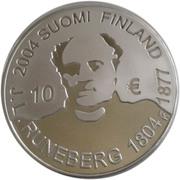 10 euros J. L. Runeberg – avers