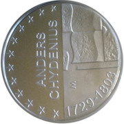 10 euros Anders Chydenius – revers