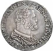 1 testone - Alfonso II – avers