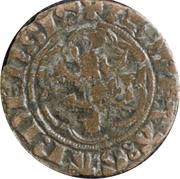 Demi-gros au lion - Louis de Crécy (1322-1346) – avers