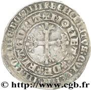 """Double gros dit """"botdraeder"""" - Louis II de Male (pour le comté de Flandre) – revers"""