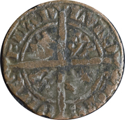 Demi-gros au lion - Louis de Crécy (1322-1346) -  revers
