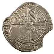 """Double gros """"Vierlander"""" de Flandre - Philippe III de Bourgogne dit """"le Bon"""" – avers"""