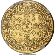 Lion heaumé d'or - Louis II de Mâle - Ghent Mint – revers