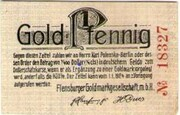 1 Pfennig (Flensburger Goldmarkgesellschaft. m.b.H  ) – avers