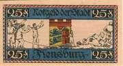 25 Pfennig (Flensburg) – revers