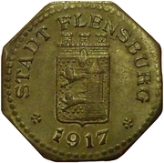 10 pfennig - Flensburg – avers