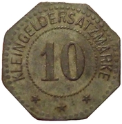 10 pfennig - Flensburg – revers