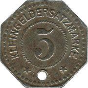5 pfennig - Flensburg – revers