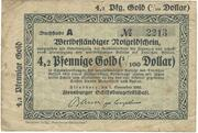 4.2 Pfennig Gold/ 1 US-Cent (Flensburg) – avers
