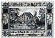 10 Pfennig (Forst (Lausitz)) – revers