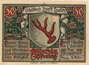 50 Pfennig (Forst in der Lausitz) – avers