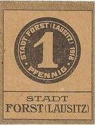 1 Pfennig (Forst in der Lausitz) – avers