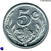 5 Centimes Union des Commercants de Fourmies et Trélon [59] – revers