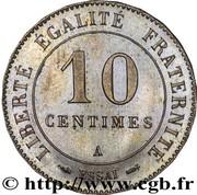 10 centimes (Essai en maillechort de Merley, type II à 24 pans) -  avers